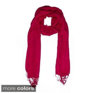 In-Sattva Colors Woven Square Solid Color Scarf (India)