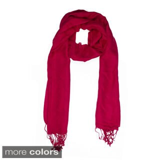 Handmade In-Sattva Colors Woven Square Solid Color Scarf (India)
