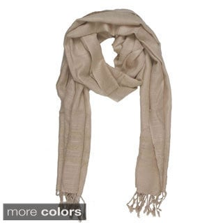 Handmade In-Sattva Colors Elegant Solid Color Scarf (India)