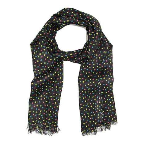 Handmade Veroma Women's Multicolor Polka Dot Scarf (India)