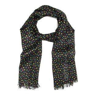 Handmade Saachi Women's Multicolor Polka Dot Scarf (India)