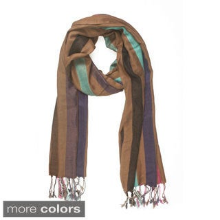 In-Sattva Colors Vertical Stripe Multicolored Scarf (India)