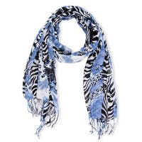 Handmade Saachi Women's Mixed Print Scarf (India)