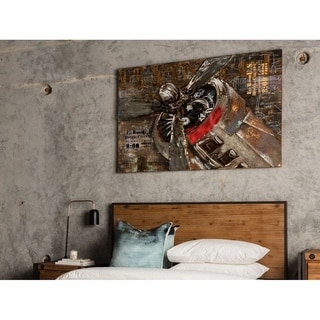 Aurelle Home Aviation Plane Wall Canvas Art Print