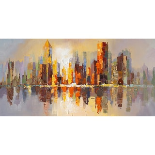 Aurelle Home Morning Metropolitan City Wall Art