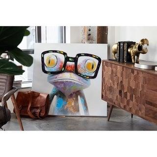 Aurelle Home Frog Eyes Canvas Wall Art - Multi-color