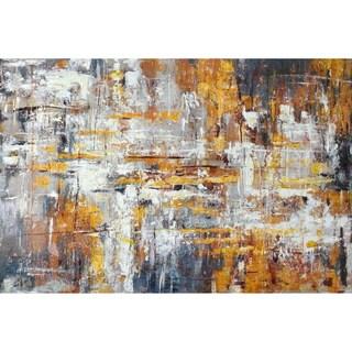 Aurelle Home Abstract Acrylic 'Munich' Canvas Art