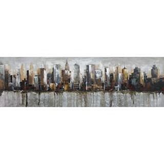 Aurelle Home Panoramic 'City' Acrylic Canvas Art