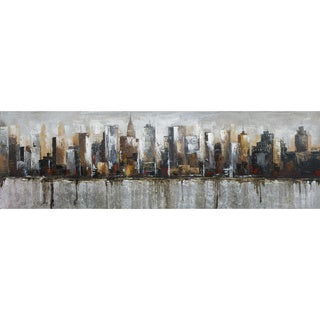 Aurelle Home Panoramic 'City' Acrylic Canvas Art