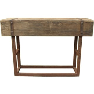 Aurelle Home Salvaged Rustic Wood Bar Table