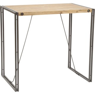 Aurelle Home Rustic and Industrial Vintage Bar Table
