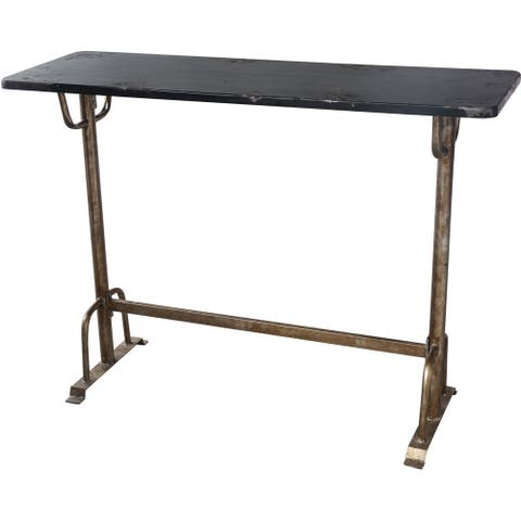 Aurelle Home Industrial Distressed Bar Table