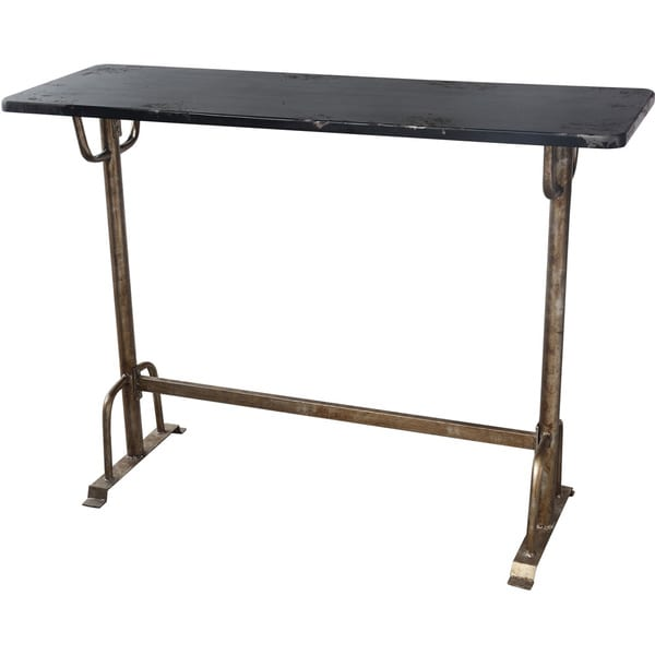 Aurelle home industrial distressed bar table free - Table bar industriel ...