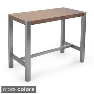 Aurelle Home Corfu Walnut Modern Counter Table