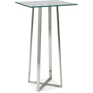 Aurelle Home Martin Glass Bar Table