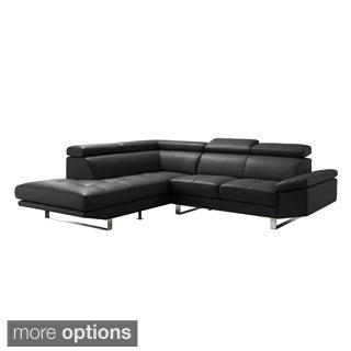 aurelle home premiun leather sectional l shape sofa. Interior Design Ideas. Home Design Ideas