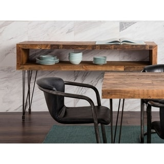 Aurelle Home Reclaimed Wood and Iron Console Table