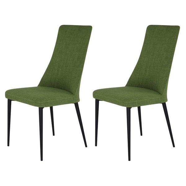 Aurelle Home Manini Mid Century Modern Green Dining Chair