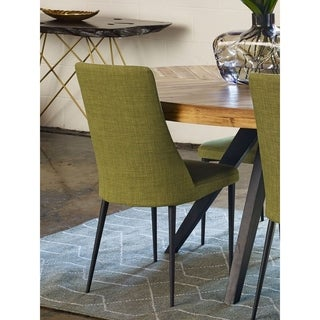 Aurelle Home Manini Mid Century Modern Green Dining Chair (Set of 2)