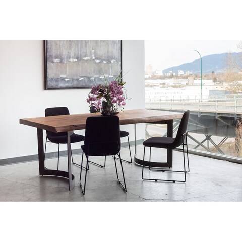 Aurelle Home Polk Black Dining Chair (Set of 2)