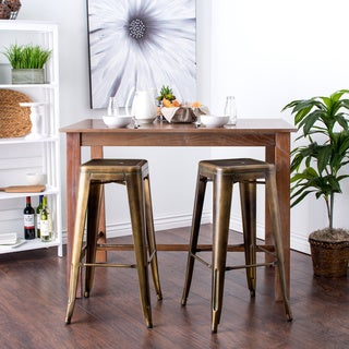 Tabouret 30-inch Weathered Bronze Bar Stools (Set of 2)