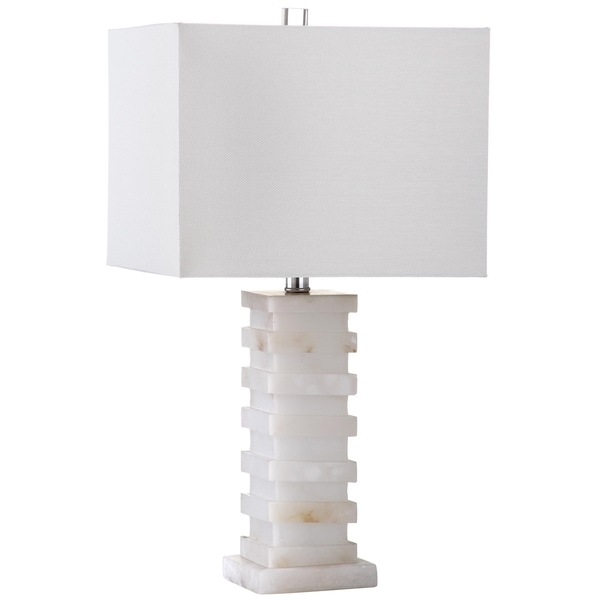 Safavieh Lighting 24.5-inch Cinder White Table Lamp