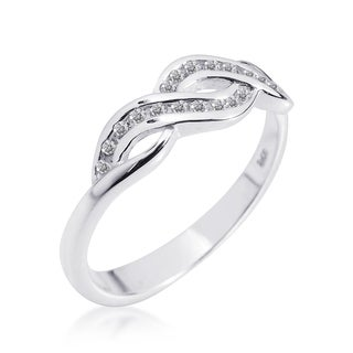 Handmade Gleaming Infinity Symbol Cubic Zirconia .925 Silver Ring (Thailand) (5 options available)
