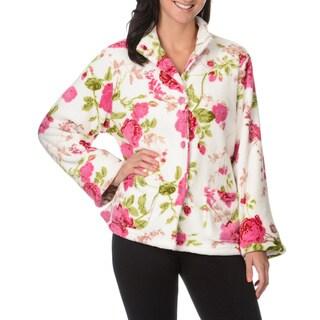 La Cera Women's Floral Print Lounge Jacket