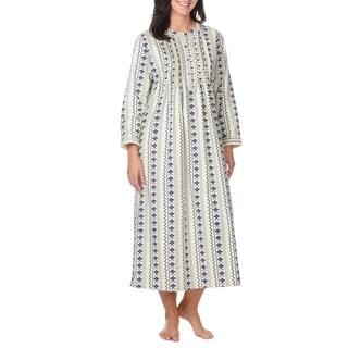 La Cera Women's Pull Over Moroccan Print Loungewear
