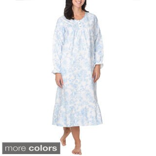 La Cera Women's Floral Print Cotton Night Gown (4 options available)