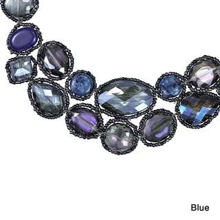 Dazzling Garland Luscious Crystals Statement Necklace (Thailand)