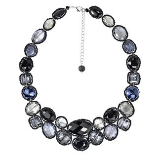 Handmade Dazzling Garland Luscious Crystals Statement Necklace (Thailand)