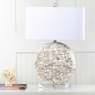 Safavieh Lighting 26.5-inch Lindsey Cream Table Lamp