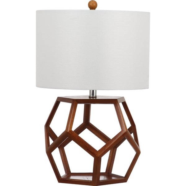 safavieh lighting delaney brown table lamp free shipping today. Black Bedroom Furniture Sets. Home Design Ideas
