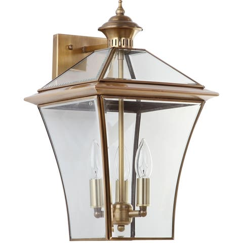 "Safavieh Lighting Virginia 3-light Brass Sconce - 10.25""x11.125""x17.75"""