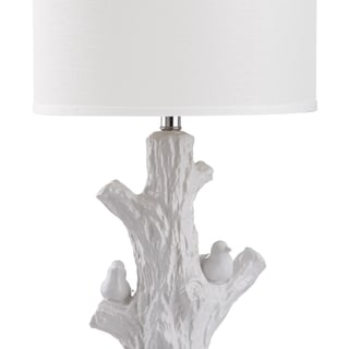 Safavieh Lighting 27-inch Lightwood White Tree Table Lamp