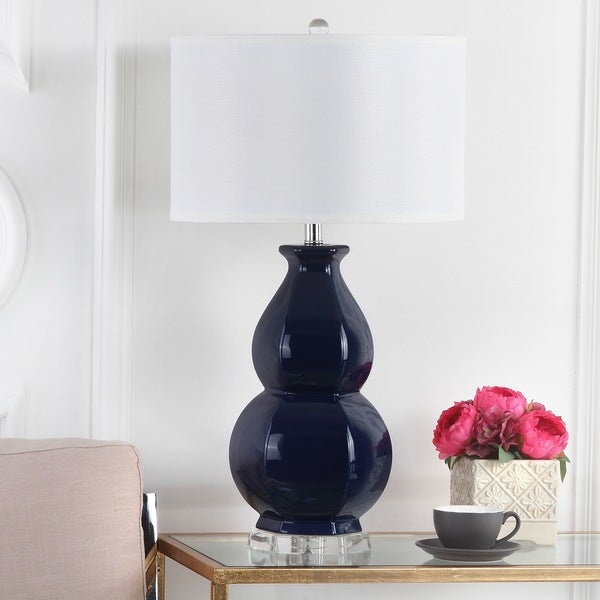 25 Best Ideas About Navy Lamp Shade On Pinterest: Shop Safavieh Lighting 30.25-inch Juniper Navy Table Lamp