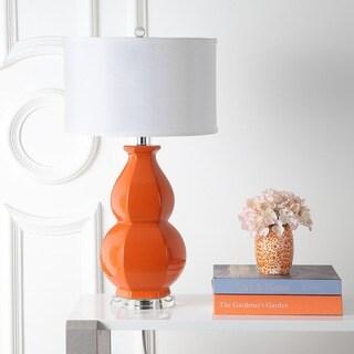Safavieh Lighting 27.5-inch Juniper Light Orange Lamp