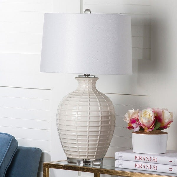 Safavieh Lighting 23.5-inch Shultz White Table Lamp