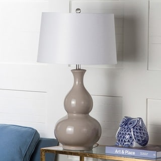 Safavieh Lighting 30.75-inch Benson Grey Table Lamp