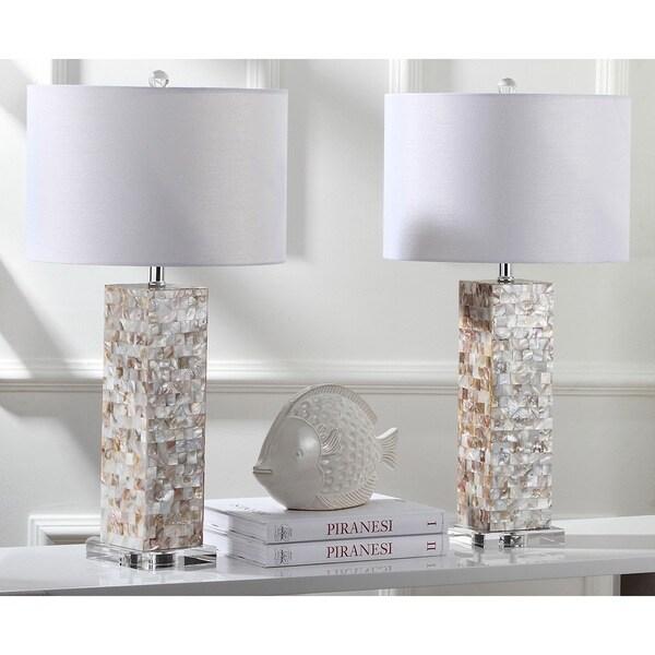 Safavieh Lighting 28.9-inch Jacoby Cream Table Lamp (Set of 2)