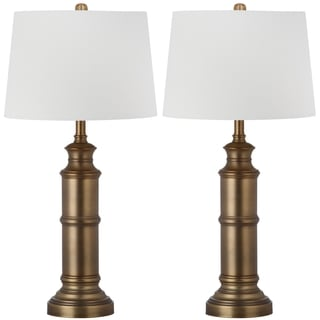 Safavieh Lighting 30.5-inch Mariner Brass Gold Table Lamp (Set of 2)