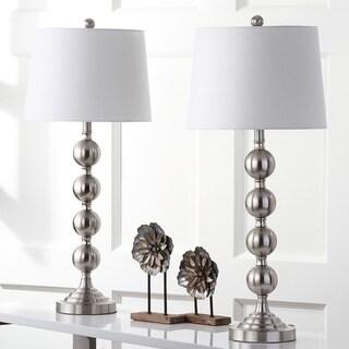 Safavieh Lighting 32.5-inch Stacked Gazing Ball Nickel Table Lamp (Set of 2)|https://ak1.ostkcdn.com/images/products/9527278/P16707746.jpg?_ostk_perf_=percv&impolicy=medium