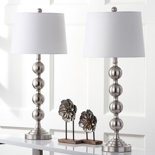 Safavieh Lighting 32.5-inch Stacked Gazing Ball Nickel Table Lamp (Set of 2)