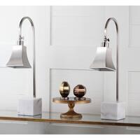 Safavieh Lighting 26-inch Charley Marble Desk Lamp (Set of 2)