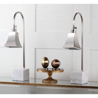 Buy lamp sets clearance liquidation online at overstock safavieh lighting 26 inch charley marble desk lamp set of 2 mozeypictures Images