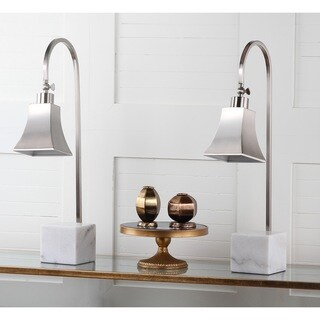 Safavieh Lighting 26 Inch Charley Marble Desk Lamp (Set Of 2)