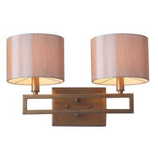 Safavieh Lighting 9.25-inches 2-light Catena Gold Double Light Sconce