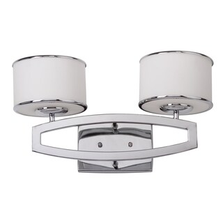 Safavieh Lighting 9.5-inches 2-light Lenora Chrome Double Drum Sconce