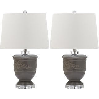 Safavieh Lighting 23.5-inch Shoal Grey Table Lamp (Set of 2)